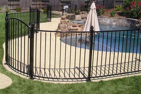 Kansas Wrought Iron Pool Fence
